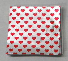 Valentines Heart Candy Foil Wrappers Confectionery Foil 125 count
