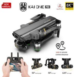 Professional Drone KAI ONE PRO 8K Dual Camera 3-Axis Gimble RC Quadcopter 1200m