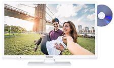 "Telefunken XH24A101D-W LED Fernseher 24"" Zoll TV DVD HD DVB-C/-T2/-S2 CI+ weiß"