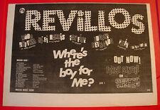 "Revillos Where's The Boy For Me? Vintage ORIG 1979 Press/Magazine ADVERT 13""x 9"""