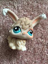 Littlest Pet Shop Lps #1471 Tan Peach Angora Bunny With Teal Eyes Hasbro