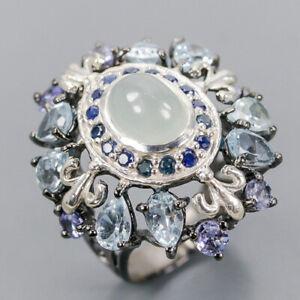 Aquamarine Ring Silver 925 Sterling gemstone jewelry ring Size 7 /R140556