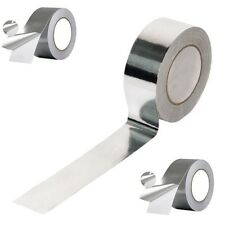 2 Rolls of Aluminium Foil Heat Insulation Tape 50mm x 50m Self Adhesive