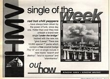 """7/3/92Pgn17 Advert: Red Hot Chilli Peppers Single under The Bridge 7x11"""""""