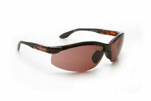 Eschenbach Solar 3 Sunglasses - Plum Lens, Wraps, Reduces Glare, Low Vision