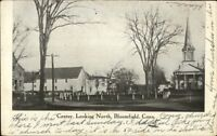 Bloomfield CT Center Looking North c1910 Postcard