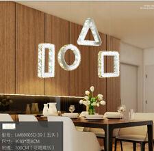 remote LED crystal Chandelier modern Restaurant lamp household living room light