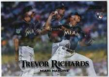 2019 Topps Stadium Club Baseball Black Foil #118 Trevor Richards Marlins