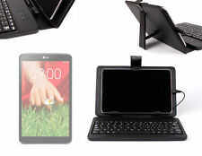 Compact Standard USB Keyboard + PU Leather Folio Stand Case for LG G Pad 8.3