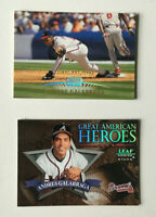 Andres Galarraga 2 card lot Stadium Club 1st Day Issue 65/200 Leaf Heroes /2500!