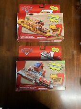 Disney Pixar Cars Tractor Tippin' & Piston Cup Pit Stop Play & Race Launcher Lot