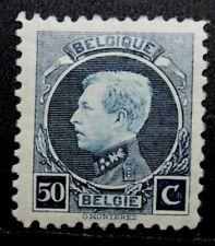 1921 'King Albert I' 50c Belgium Postage Stamp. Mnh, Perforation 11.5