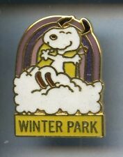 RARE PINS PIN'S ..  BD COMICS SNOOPY SKI SKIING ¤1S