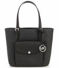 NWT MICHAEL KORS SIGNATURE JET SET MULTI FUNCTION POCKETS TOTE MEDIUM BLACK $198