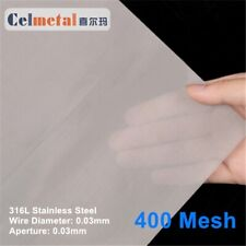 Stainless Steel Wire Mesh, 400 mesh, 500mm x 500mm sheet, Get 1 Free Mouse Pad