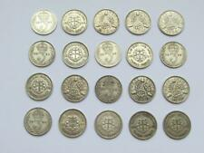 More details for 20 george v & george vi pre 1947 silver threepences with 3 x 1942 collectables