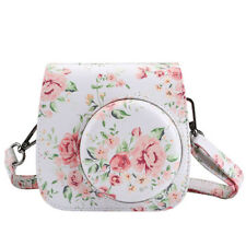 Floral Instax Mini8 Mini9 Camera Leather Case Shoulder Bag Cover For Fujifilm