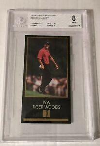 1998 Champions of Golf Tiger Woods The Master Collection Rookie BGS 8