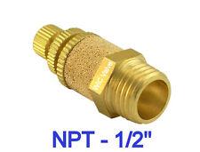 Neumático Control De Flujo Silenciador 1.3cm NPT Aire Escape Accesorio 5 Piezas