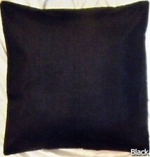 """Black 20x20"""" Square 50 Cm Polyester Cushion Cover Solid Pillow Case Throw"""