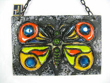 """Beautiful 70´s design Carstens LUSSO CERAMICA CHAIN wall plaque """"Butterfly"""""""