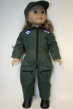 """ARMY Milatary Flight Pilot Jumpsuit Uniform Clothes For 18"""" American Girl (Debs)"""