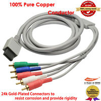 Component AV Cable for Nintendo Wii to HDTV, 100% Pure Copper