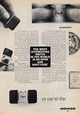 1965 Ermetophon Desk/Table/Pocket Watch  PRINT AD