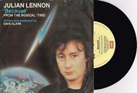 "JULIAN LENNON - BECAUSE - 7"" 45 VINYL RECORD w PICT SLV - 1985"