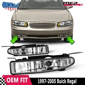 For Buick Regal 97-05 Factory Bumper Replacement Fit Fog Lights DOT Clear Lens