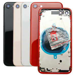 For iPhone 8 Plus X Replacement Glass Housing Battery Back Cover Frame Assembly