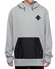 2017 NWT MENS BURTON HEMLOCK BONDED HOODIE $110 heather grey sweatshirt