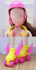 3PCS/set  Sports Accessories Shoes Helmet Headset Color Random Tw