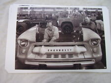 1956 CHEVROLET  TRUCK ASSEMBLY LINE   FRONT ENDS  11 X 17 PHOTO  PICTURE