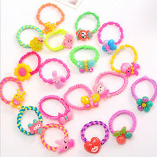10pcs Colorful lovely cartoon fruit Child Hair Rubber Bands Kids hair ropes、New