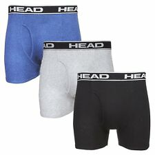 HEAD Mens Cotton Boxer Briefs 3-Pack 100% Cotton
