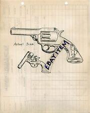 1946 billhead BANG-O ALL METAL CAP PISTOL GUN Walter H Allen Dallas Texas
