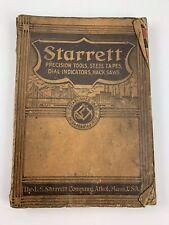 Vintage 1938 Starrett Precision Tools Catalog 26 Athol, Mass