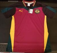 Puma X Daily Paper Collab Mens Size S Cordovan African Football Soccer Jersey