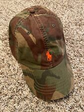 NEW Polo Ralph Lauren Pony Cotton Camo Camouflage Baseball Cap Hat Green NWT