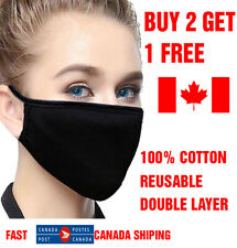 BEST Reusable Face mask full coverage for MEN WOMEN LARGE - cotton breathable