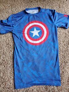 Under Armour Alter Ego Captain America 2013 Marvel Heatgear Men Medium