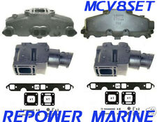 Exhaust Manifold & Riser Set, for Mercruiser 5.0 / 5.7L V8 350 MAG