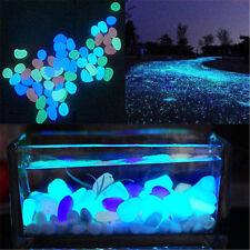 Hot Glow In The Dark Pebbles Stone Luminous Garden Outdoor Home Fish Tank Decor