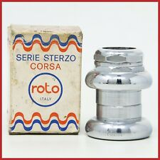 "NOS ROTO CORSA HEADSET 1"" INCH THREADED VINTAGE 70s ROAD RACING NIB EROICA STEEL"