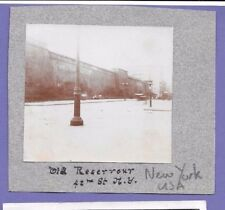 42ND STREET NEW YORK RESERVOIR USA ORIGINAL VINTAGE PHOTOGRAPH on card 8x7cm BN