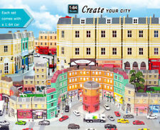 RMZ City Diorama Building Toys European House 1:64 Diecast Metal cars Model Kits