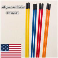 Golf Alignment Tools 1 Pair Putting Training Aids Trainer Practice Rods Sticks
