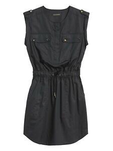 Banana Republic Black Utility Shirt Dress Size 16