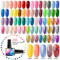 8ml MTSSII Pure & Sequins Nail Art UV Gel Polish Soak Off Top Base Coat Varnish